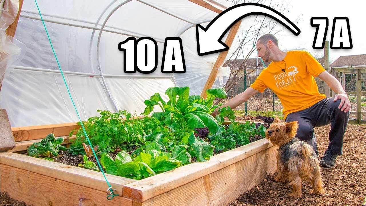 TWO Layer Hinged Hoophouse, Move Up THREE ZONES! Raised Bed Gardening