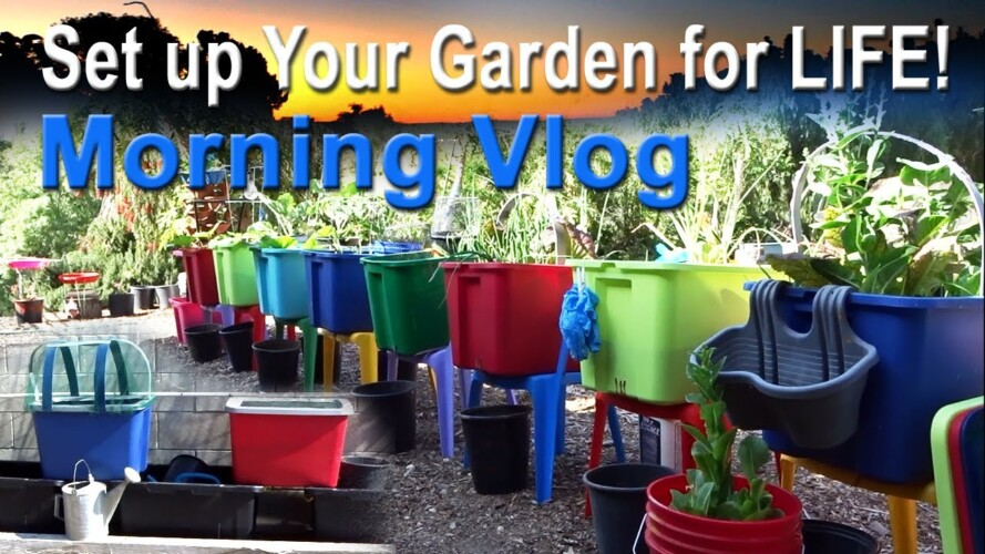 Set up Garden for LIFE Vlog EASY GARDENING, 2 system Compost in Place Plant food, Growing Seeds TIPS