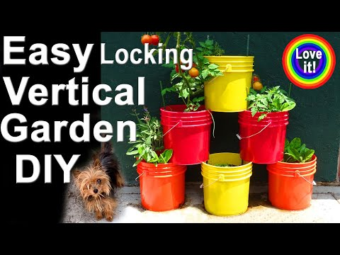 Vertical Gardening EASY & CHEAP  Grow Tons of Vegetables Pot Plants in Container Garden / Raised Bed
