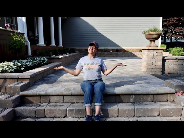 The Patio Pavers Are FINISHED | Gardening with Creekside
