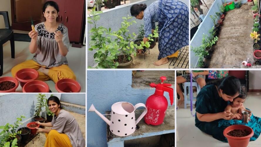 சூப்பரா மாறிய மாடித் தோட்டம்🌱 Extreme Garden makeover | Terrace gardening tips | Garden materials