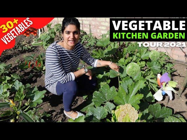 Vegetable Garden in England Tour 2021| Kitchen Garden in England| Gardening Vlog