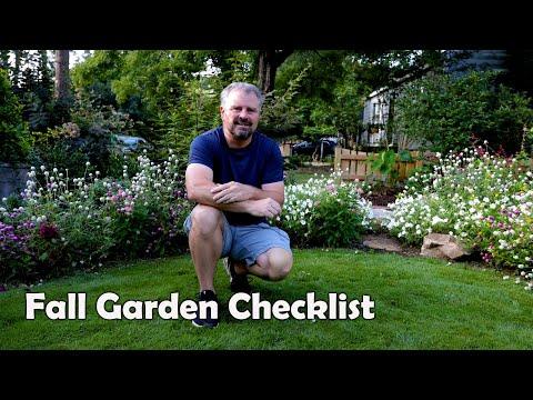 September Garden Checklist - Fall Gardening