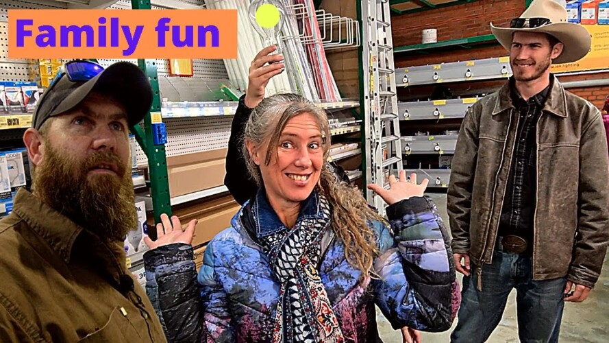 Family fun shopping in Russia Home Depot. Camping gear,  pets supplies, gardening tool and more.